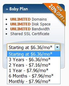 Baby plan pricing