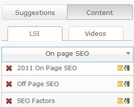 SEO-Pressor LSI feature