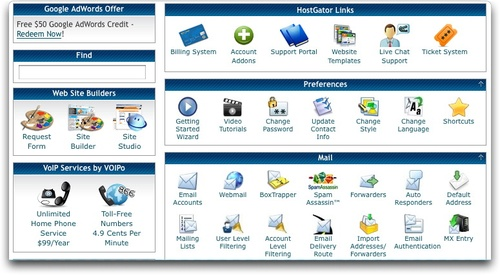 how to get to my hostgator cpanel