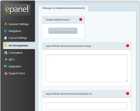 elegantthemes-review-epanel-ad-management-settings