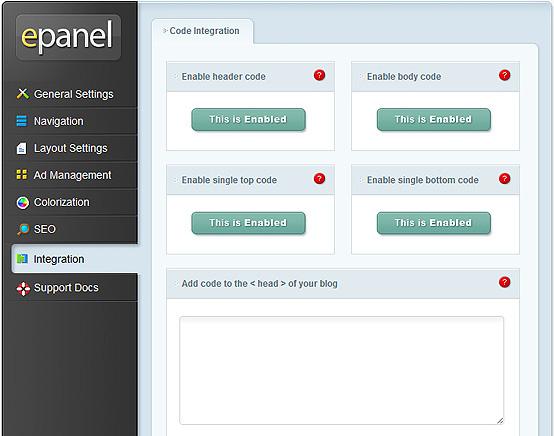 elegantthemes-review-epanel-integration-settings