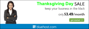BlueHost ThanksGivingDay